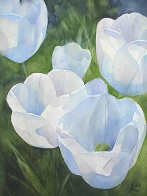 Glowing Tulips Art Print by Bobbi Price