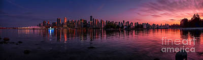 Photograph - Glowing Vancouver by JR Photography