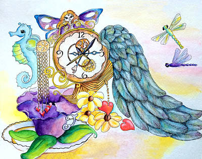 Gloxinias Painting - Glox Time by Diana Hume