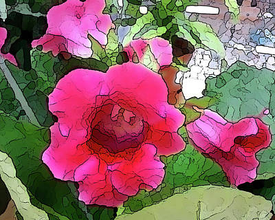 Photograph - Gloxinia by Peggy Cooper