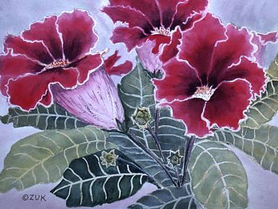 Painting - Gloxinias by Karen Zuk Rosenblatt