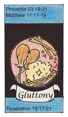Revelation Drawing - Gluttony by Chayla Dion Amundsen-Noland