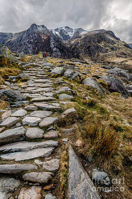 March Digital Art - Glyderau Mountains by Adrian Evans