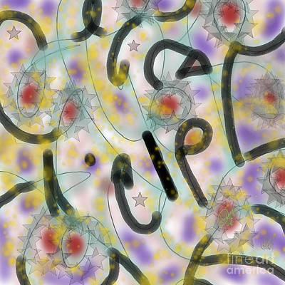 Digital Art - Glyph Bits by Carol Jacobs
