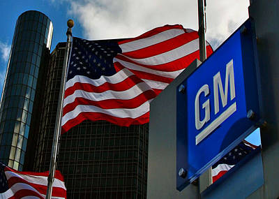Photograph - Gm Flags by Kelly E Schultz