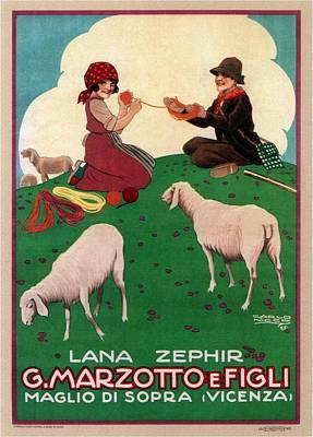 Mixed Media - G.marzotto E Figli - Vicenza, Italy - Vintage Advertising Poster by Studio Grafiikka