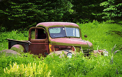 Gmc Pickup Put Out To Pasture Original by Betty Denise