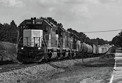 Photograph - Gmtx On The Lc B W by Joseph C Hinson Photography