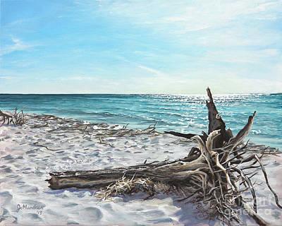 Painting - Gnarled Drift Wood by Joe Mandrick