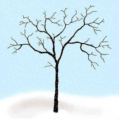Digital Art - Gnarled In Winter by Alycia Christine