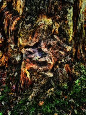 Digital Art - Gnarled by Leigh Kemp
