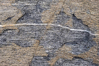 Photograph - Gneiss - Fort Foster - Maine by Steven Ralser