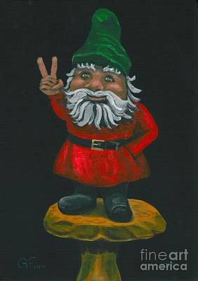 Gnome Of Peace Art Print by Gail Finn