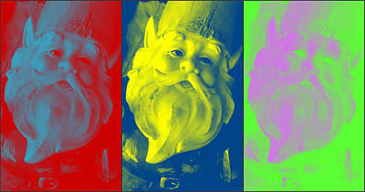 Gnomes In Crazy Color Art Print by Jennifer Coleman