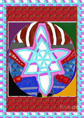 Painting - Gnosa Peace Karuna Reiki Healing Symbol Art Buy Posters Greetings Pillows Duvet Covers Phone Cases  by Navin Joshi