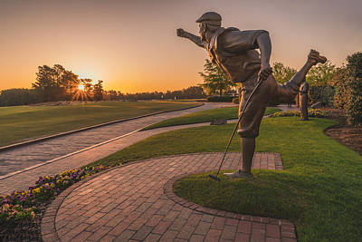 Golf Statues Photograph - Legend by Mark Denney Photography