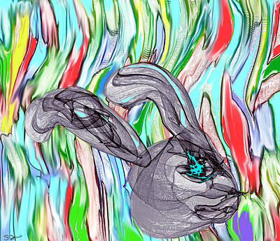 Psychedelic Painting - Go Ask Alice by Abstract Angel Artist Stephen K