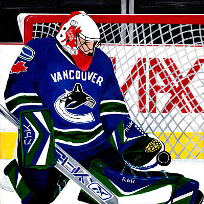 Painting - Go Canucks Go by Pj Artman