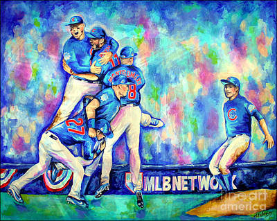 Bryant Painting - Go Cubs Go by Amy Belonio