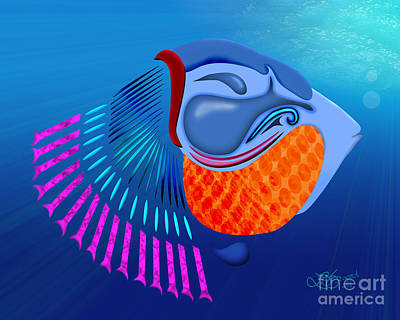 Go Fish Art Print by Linda Seacord