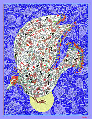 Digital Art - Go Fish, The Exotic Bird by Lise Winne