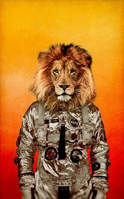 Cool Lion Digital Art - Go Flight by Durro Art