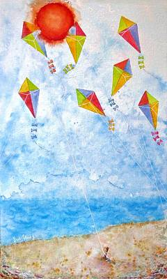 Painting - Go Fly A Kite by Barb Toland