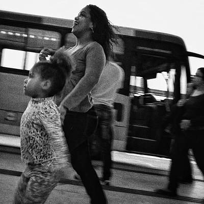 Girl Photograph - Go, Go!!! #woman #girl #child #mother by Rafa Rivas