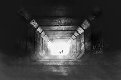 Lights In Tunnel Photograph - Go Home by Stefan Eisele