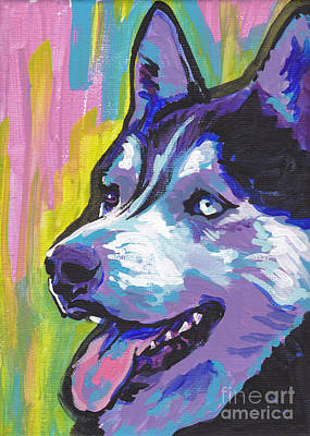 Siberian Wall Art - Painting - Go Husky by Lea S