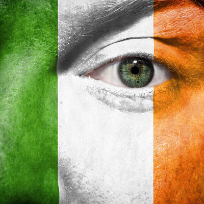 Face Photograph - Go Ireland by Semmick Photo