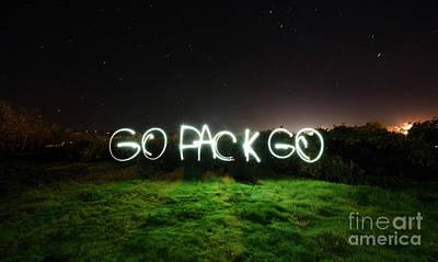 Wisconsin Map Photograph - Go Pack Go by Jon Neidert