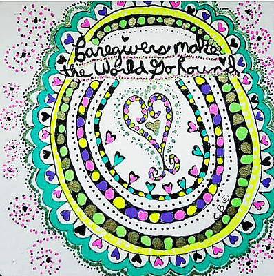 Drawing - Go Round by Carole Brecht