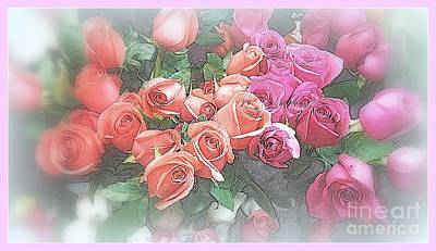 Photograph - Go Softly In Roses by Miriam Danar