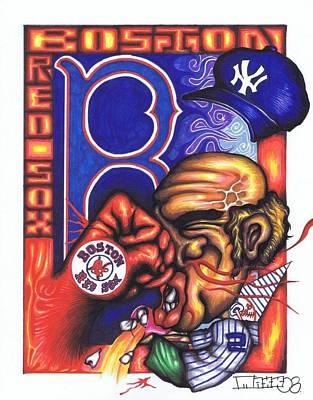 New York Yankees Drawing - Go Sox by Maxx Kim