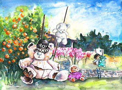 Go Teddy Print by Miki De Goodaboom