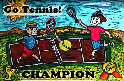Go Tennis Original by Monica Engeler