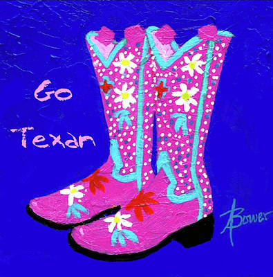 Painting - Go Texan by Adele Bower