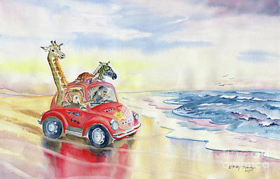 Painting - Go To The Beach by Melly Terpening