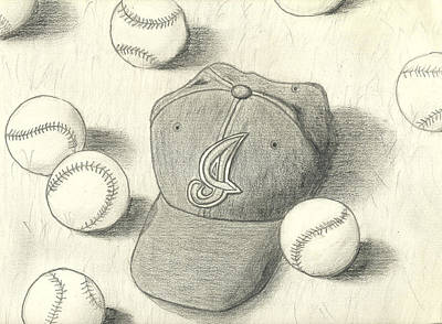 Cleveland Indians Drawing - Go Tribe by James Violett II