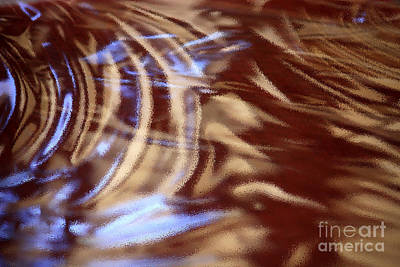 Abstract Digital Art Photograph - Go With The Flow - Abstract Art by Carol Groenen