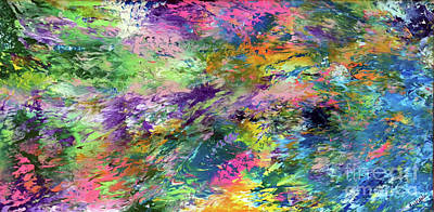 Splashy Painting - Go With The Flow by Jo Ann Bossems