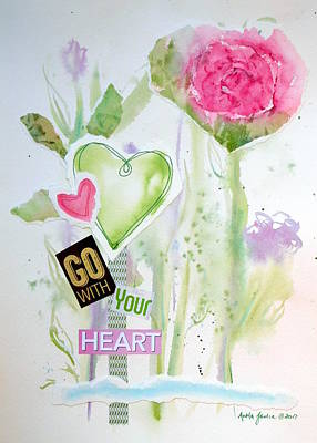 Painting - Go With Your Heart by Anna Jacke