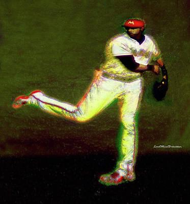 Digital Art - Go Yelich Baseball Art 1 by Miss Pet Sitter