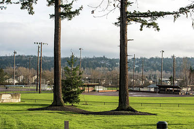 Photograph - Goal Posts In Skagit Valley Playfield by Tom Cochran