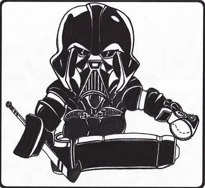 Goalie Black Art Print by Hockey Goalie
