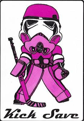 Goalie Pink Art Print by Hockey Goalie