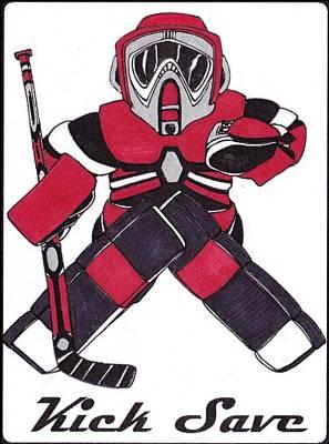 Goalie Red Art Print by Hockey Goalie