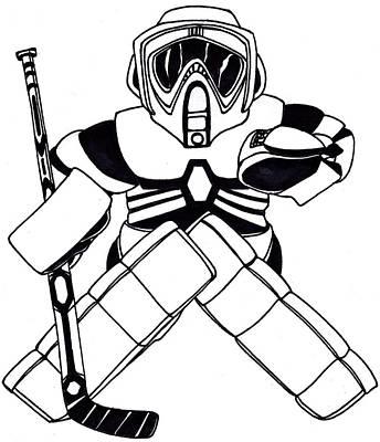 Goalie Speeder Art Print by Hockey Goalie