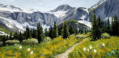 Glacier National Park Painting - Goals by Mary Giacomini